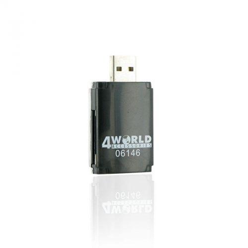 4World čtečka paměťových karet USB 2.0 ALL-in-ONE PenDrive cena od 0,00 €