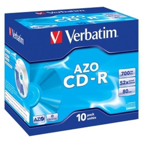 Verbatim CD-R 700MB 52x Super AZO Crystal (box) - 10 ks.