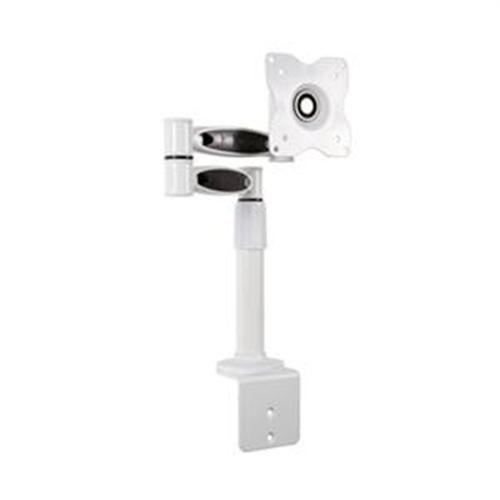 4World Uchwyt biurkowy do TV/LCD 10-22'' uchylny/obrotowy/reg.wysokość, max 6kg biały