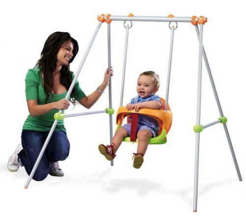 Smoby Hojdačka Baby s konštrukciou 1,2 m