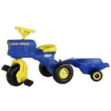 Rolly Toys Šlapací tříkolka New Holland s vlečkou - modrá cena od 0,00 €
