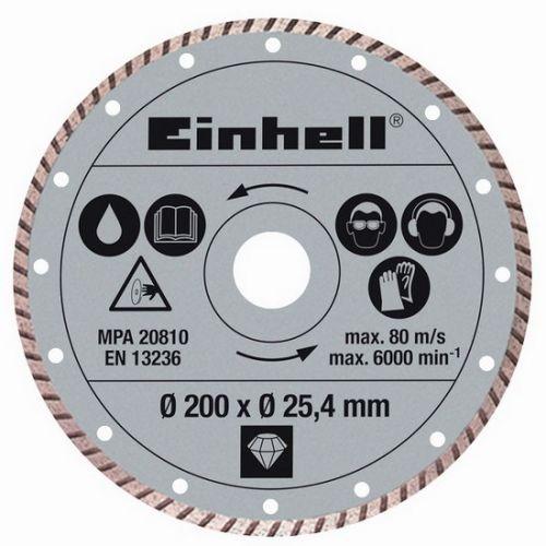 Einhell Kotouč diamantový turbo 200x25,4 mm k řezačkám TPR 200/2 a RT-SC 560 U