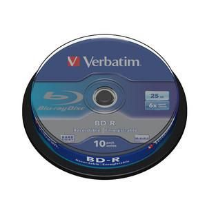 Disk BD-R SL Verbatim 25GB 6x 10-cake