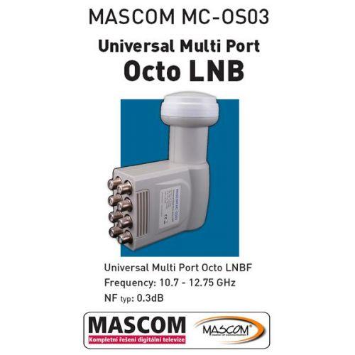 Konvertor LNB Mascom Octo, 8. účastníků / 1 družice
