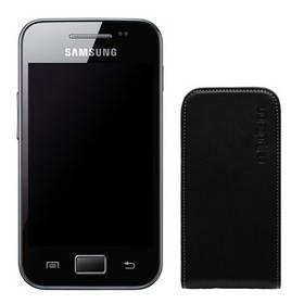 OEM Pouzdro Celly FACE kožené pouzdro S5830 Galaxy Ace, černé cena od 0,00 €