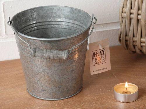 HD Home Design Obal na květináč kbelík (A03640), šedá..