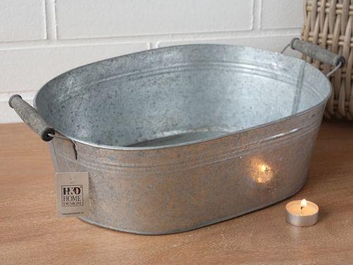 HD Home Design Obal na květináč vanička (A03690), šedá..