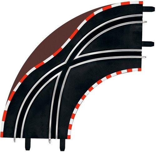 Príslušenstvo k autodráhe Carrera GO 61655 GO/D143 Křížení v zatáčce 1/90 (2ks)