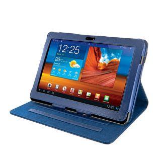 4World Etui z nożką dla Galaxy Tab 10.1, ekoskóra, niebieskie cena od 0,00 €