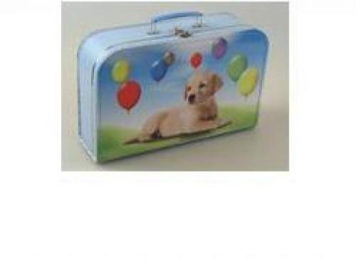 Kazeto Kufřík pes s balónky 35 cm