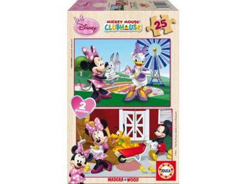 Alltoys CZ+ Puzzle drevené Minnie 2v1 25 dielikov