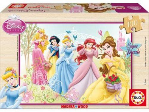 Alltoys CZ+ Puzzle drevené Disney princezny 100 dielikov