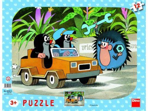 Dino Puzzle Krtko a autíčko 12 dielikov