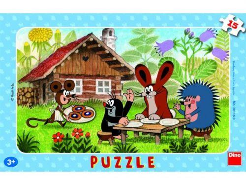 Dino Puzzle 15 dielikov doskové Krtko na návšteve