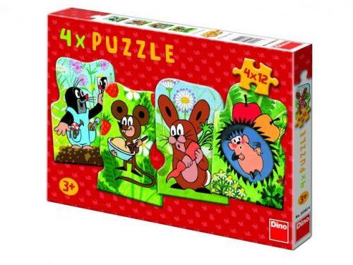 Dino Puzzle Krtko 4x12 dielikov