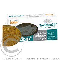 Dr.Muller Pharma Čisté prírodné neparfumované mydlo obsahuje olej a lístky čajovníka austrálskeho