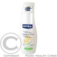 Beiersdorf Slovakia NIVEA telové mlieko Happy time osviežujúci 250ml Telové mlieko vyvinuté špeciálne pre normálnu až suchú pokožku. Obsahuje výťažky z bambusu a mliečne proteíny, s jemnou vôňou citrusových kvetov. Intenzívne pokožku hydratuje po celých 2