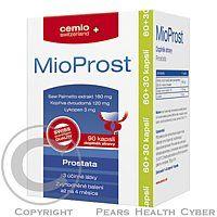 MioProst je preparát s obsahom 3 účinných látok pre aktívnu starostlivosť o prostatu. Prípravok MioProst obsahuje extrakt z plodov trpasličej palmy, extrakt z koreňa žihľavy a lykopénu. Vďaka tomu aktívne pôsobí v prostate a znižuje tvorbu látok, vedúcich