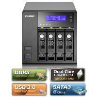 QNAP NAS Server TS-459Pro II,SCSI,1GB DDRIII,4x3,5