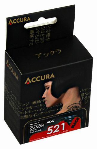 Accura alternativní inkoust Canon CLI521B chip, 9,5 ml black 100 % NEW cena od 0,00 €