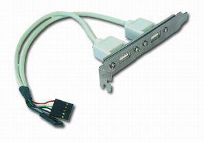 Gembird Záslepka s 2x USB 2.0 porty - zadné do case