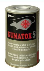 Druchema Kumatox S sypká nátraha na ničenie potkanov, krýs a myší 130 g