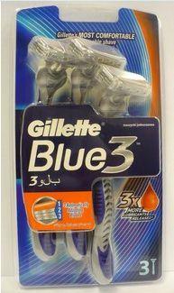 Procter & Gamble GILLETTE Blue 3 pánska holiaceho strojčeka 3 brity 3 ks cena od 3,70 €