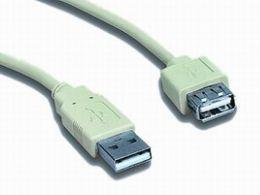 OEM USB 2.0 prodlužovací 1.8m A-A extra stíněný bílý cena od 1,13 €