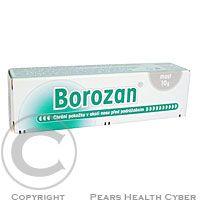Zentiva Borozan ung. 10 g Masť chrániace pokožku v okolí nosa pred podráždením. Vhodná pri nádchach proti