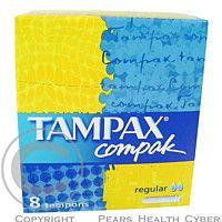 Glynn Brothers Tampóny Tampax compak regular 8 ks Dámske hygienické menštruačné tampóny s praktickým aplikátorom. cena od 0,00 €