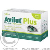 Vulm SK AVILUT Luteín 12 mg PLUS tbl.30 MEDI-AP Plus pre Vaše oči. Doplnok stravy s karotenoidy, vitamíny a minerály. prípravku AVILUT Plus obsahuje vyváženú kombináciu luteínu, zeaxantínu, vitamínu E, vitamínu C, vitamín D, taurínu a kyseliny listovej.