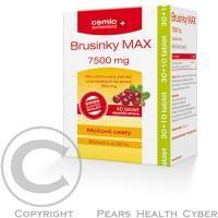 Cemio s.r.o. Prípravok Brusnice MAX 7500 mg obsahuje zosilnenú dávku štandardizovaného extraktu z kanadských brusníc, ktoré účinne podporujú zdravie močového ústrojenstva cena od 0,00 €
