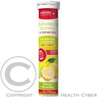 Multivitamín šumivý s minerálmi s príchuťou citrónu a limetky obsahuje široké spektrum dôležitých vitamínov a minerálov.