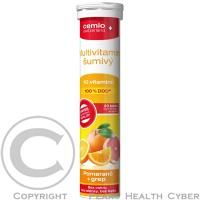 CEMIO Multivitamín k rýchlemu doplneniu potreby vitamínov. Má dobrú chuť a je bez umelých farbív, laktózy a lepku.