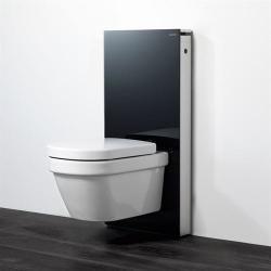 Geberit Monolith - Modul pre závesné WC, čierne sklo/hliník 131.021.SJ.1