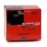 CD RW médium INTENSO 700MB 12speed 10 SLIM cena od 0,00 €