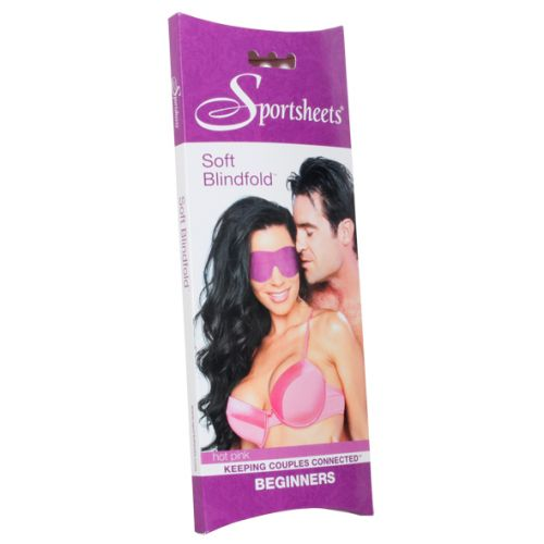 SPORTSHEETS Soft Blindfold - Hot Pink
