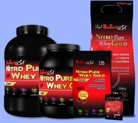 Biotech USA Nitro pure Whey GOLD dóza 2270 g