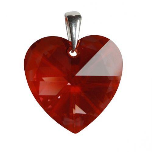 Swarovski Prívesok červené srdce 28mm
