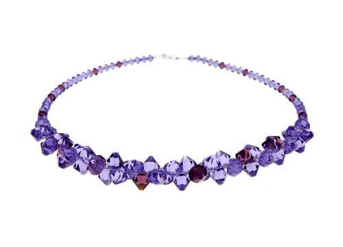 swarovski-online Fialový náhrdelník Tanzanit Ametyst