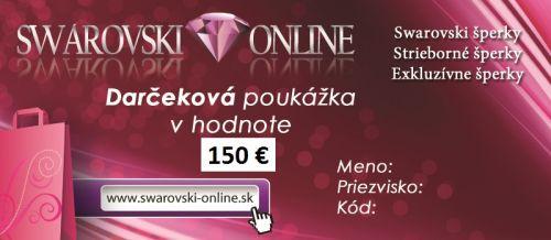 Swarovski Darčeková poukážka v hodnote 150 €