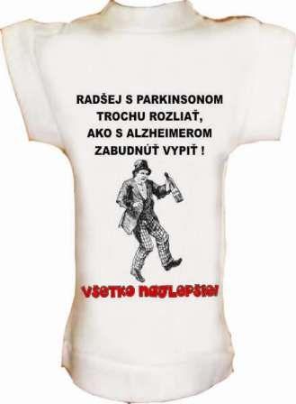 Tričko na fľašu PARKINSON