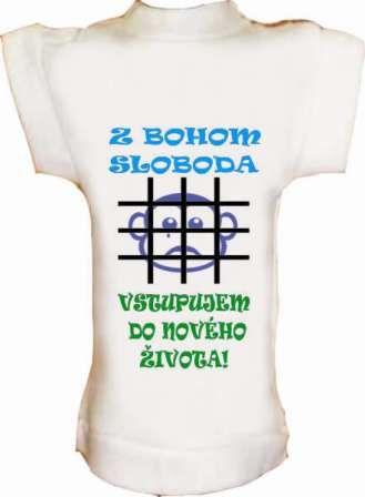 Tričko na fľašu ZBOHOM SLOBODA...