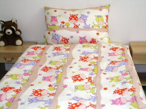 EVENIT - BABY Posteľné obliečky Žirafky 37B - Bavlna - 90x130 cm