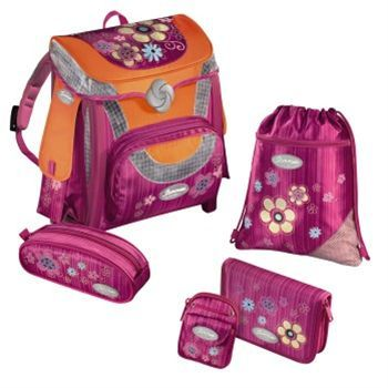 Samsonite - Sammies Optilight, školská aktovka Happy Flowers, 5-dielny set - 102537