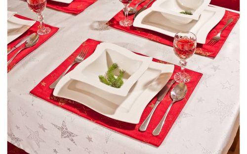 EVENIT - Vianočné prestieranie červené 4ks - Polyester