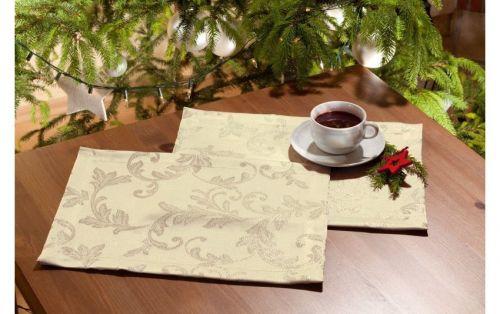 EVENIT - Vianočné prestieranie zlaté 4ks - Polyester