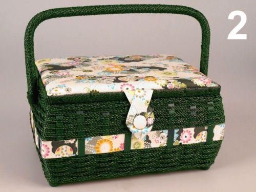 - Košík na šijace potreby Monika - 1 veľký, zelený cena od 0,00 €