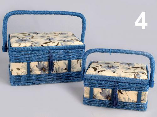 - Košík na šijace potreby Terézia - 2 kusy súprava, modrý cena od 0,00 €