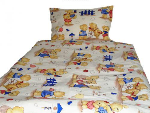 EVENIT - BABY Posteľné obliečky Medvedík a záhradka 040B - Bavlna - 90x130 cm